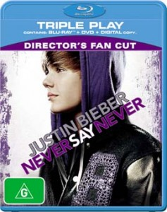 Justin Bieber Never Say Never Blu-ray